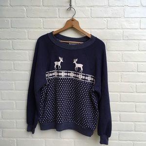 NWOT Wildfox Reindeer Holiday Winter Sweatshirt